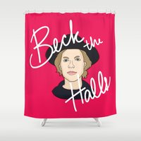 cassia beck Shower Curtains featuring Beck the Halls by Chelsea Herrick