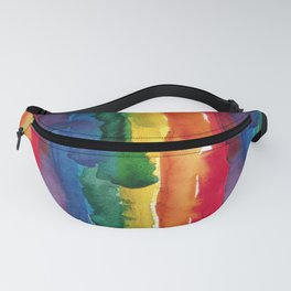 rainbow watercolor Fanny Pack