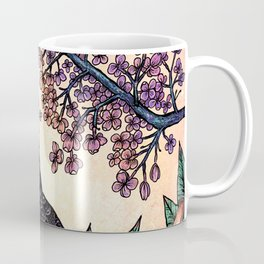 Great Grey Owl At Sunset Coffee Mug