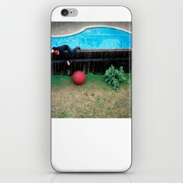 Red ball iPhone Skin