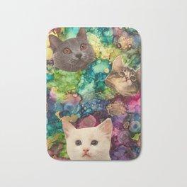 Cute Cat Faces Bath Mat