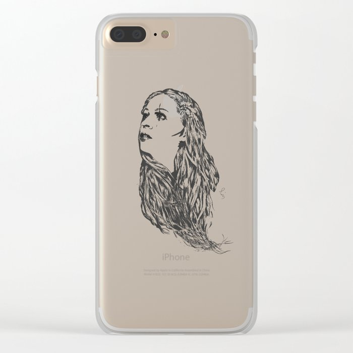 Last hope - Digital painting Clear iPhone Case