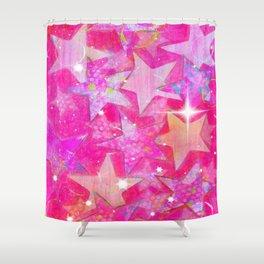 Layered Stars Shower Curtain
