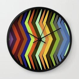 Rainbow Tree Inspired Art On Black Wall Clock