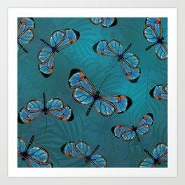 GlassWinged Greta Oto butterflies Art Print