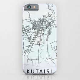 Kutaisi, Georgia, White, City, Map iPhone Case