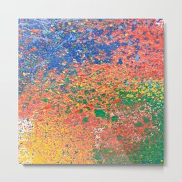 Colorful ink drops on white Metal Print