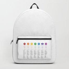 7 Chakra Chart & Symbols #21 Backpack