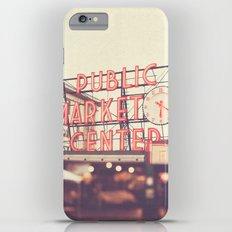 6:20. Seattle Pike Place Public Market photograph iPhone 6s Plus Slim Case