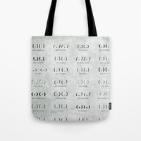 boob Tote Bags featuring Boob Type Guide by Geminianum