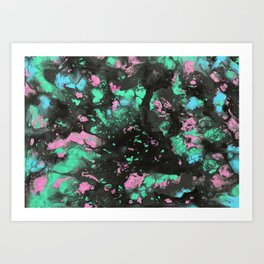 Radioactive Galaxy Art Print