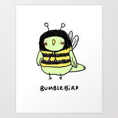 Bumblebird Art Print
