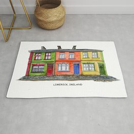 LIMERICK IRELAND ROW HOUSE TOWNHOUSE Rug