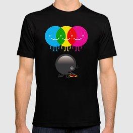 CMY makes K dizzy T-shirt