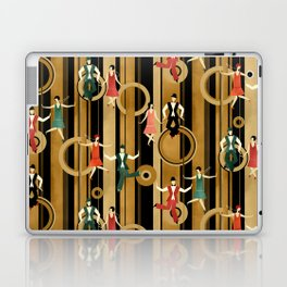 Art Deco Charleston Dancers Pattern Laptop & iPad Skin