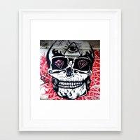 crane Framed Art Prints featuring CRANE by lucborell