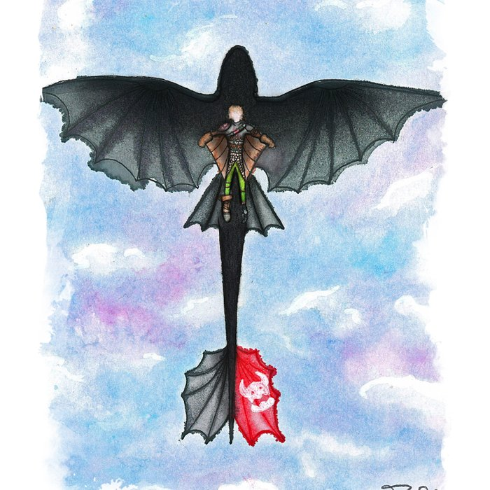 Hiccup and toothless flying from how to train your dragon 2 duvet hiccup and toothless flying from how to train your dragon 2 duvet cover ccuart Image collections