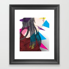 nube mente corazon Framed Art Print