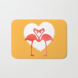 lovebirds - flamingos in love Bath Mat
