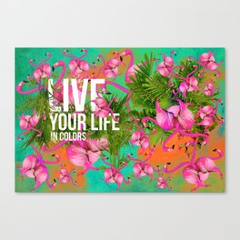 Live your life in colors Canvas Print