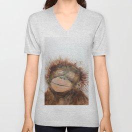 Cute Orangutan Unisex V-Neck