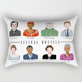 Famous Writers - Literal Hotties Rectangular Pillow