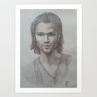 sam winchester Art Prints featuring Sam Winchester by DustyRoseArt