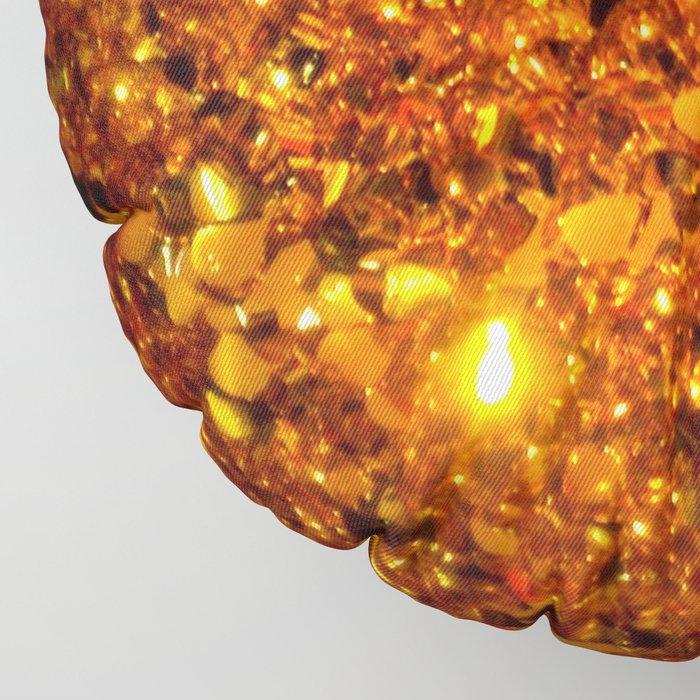 Copper Sparkle Floor Pillow