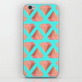 Orange Diamond iPhone Skin