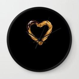 Churros Heart Wall Clock