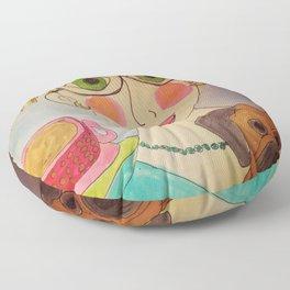 """Tallulah's World"" Floor Pillow"