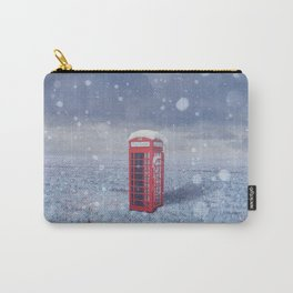 in snowy field Carry-All Pouch