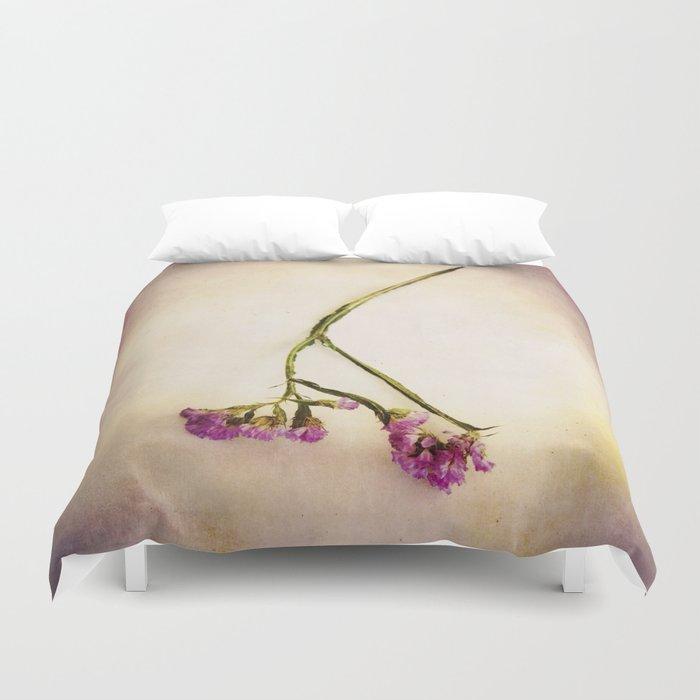 Abandoned Purple Flower Duvet Cover