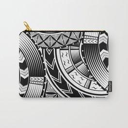 UrbanNesian Black and White Tatau Carry-All Pouch