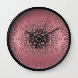 pink and grey Wall Clock