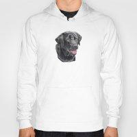 labrador Hoodies featuring Labrador retriever - black by Doggyshop
