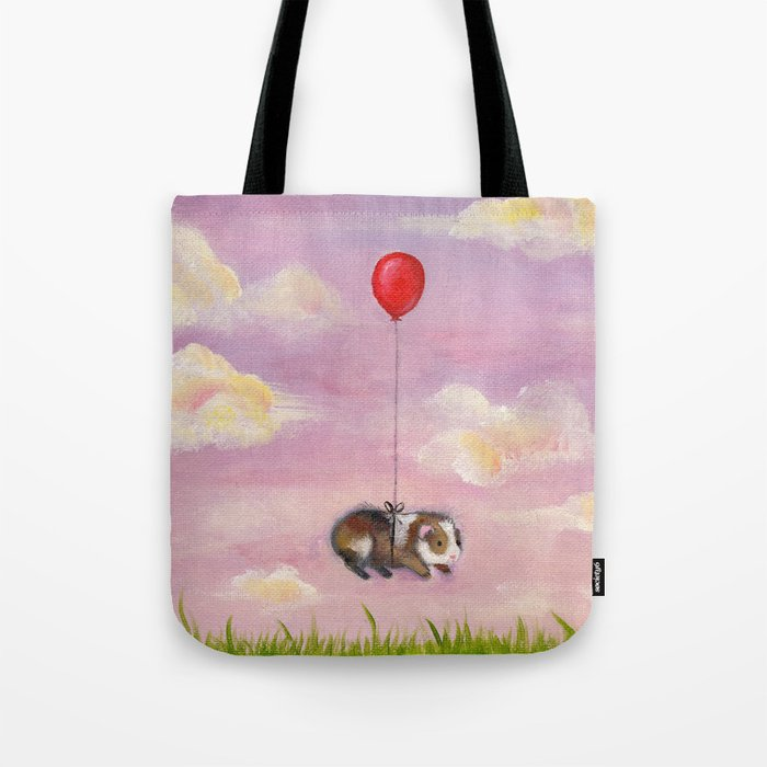 Balloon Ride - Guinea Pig With Balloon Tote Bag