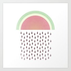Raining Seeds Art Print