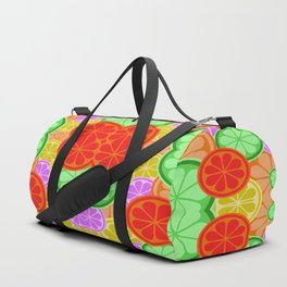 Citrus Explosion - A Pattern of Many Fruits from the Citrus Family Duffle Bag