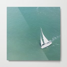 The Breeze on the Bay Metal Print