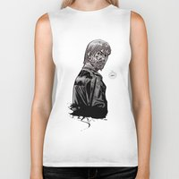 rick grimes Biker Tanks featuring The Walking Dead Rick Grimes by Cursed Rose