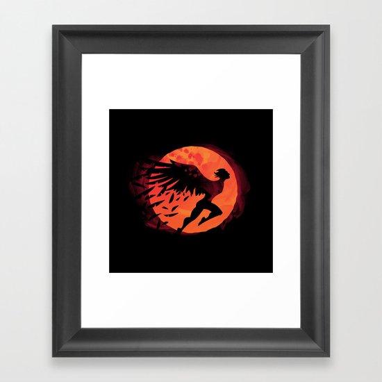 Icarus: Sunset Framed Art Print