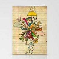 cthulu Stationery Cards featuring Notebook World by Duru Eksioglu
