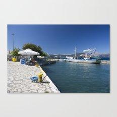 Corfu Fishing Boat Canvas Print