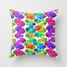 Three eyed fish Throw Pillow