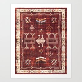 N252 - Bohemian Oriental Heritage Berber Moroccan Style Art Print