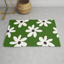 Green Daisies  Rug
