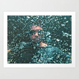 Blue boy underwater Art Print