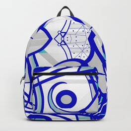 Blue morning - abstract decorative pattern Backpack