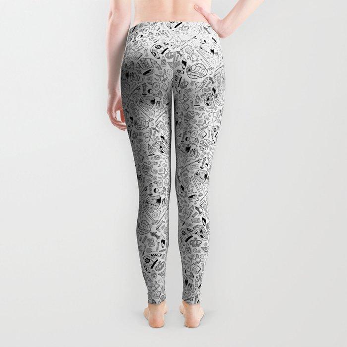 Seinfeld Pattern (White Background) Leggings